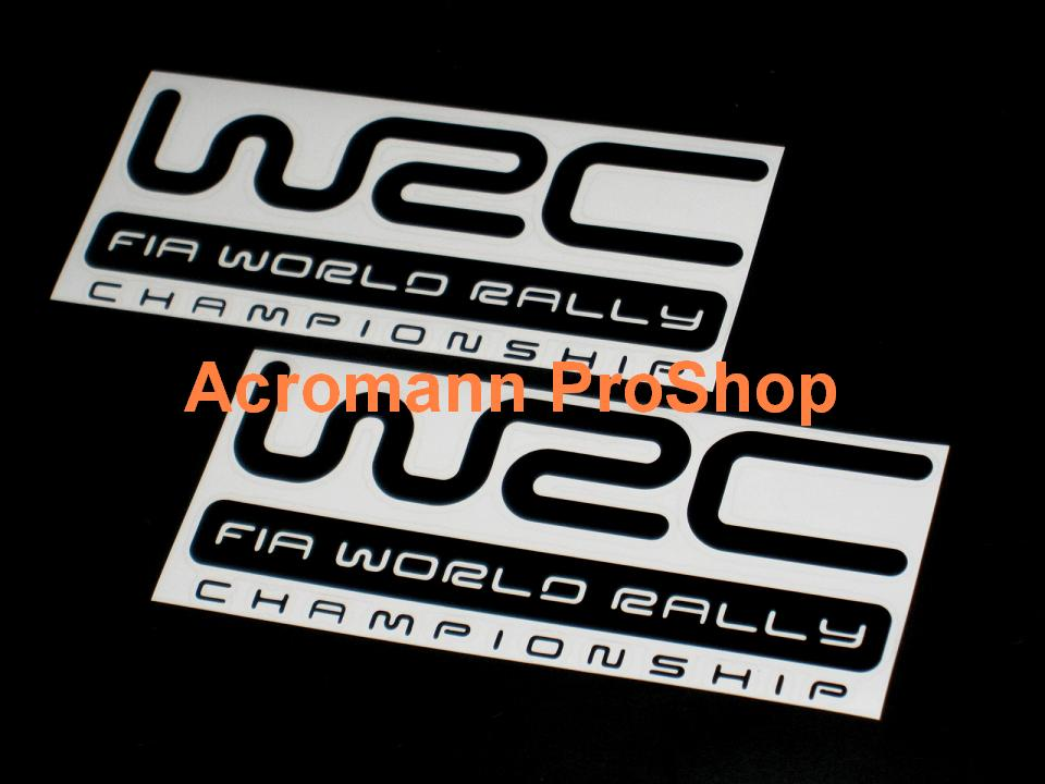 WRC FIA World Rally 6inch Decal (Style#2) x 2 pcs